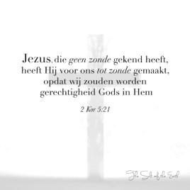 Jezus kende geen zonde maar werd zonde