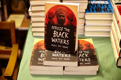 Launch of the Centenary Edition of the novel Across the Black Waters took place at Housmans Bookshop, London on 22 October 2014. Photo George Rosen Darrell