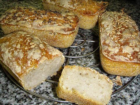 Mini-sourdough loaves