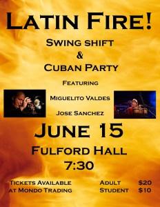 Swing Shift Big Band & Jose Sanchez's Cuban Party Band @ Fulford Hall