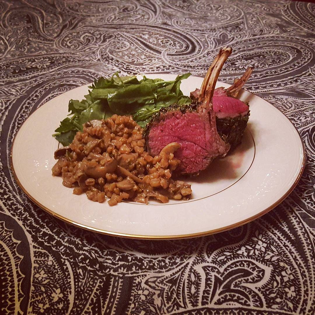 Easy holiday rack of lamb