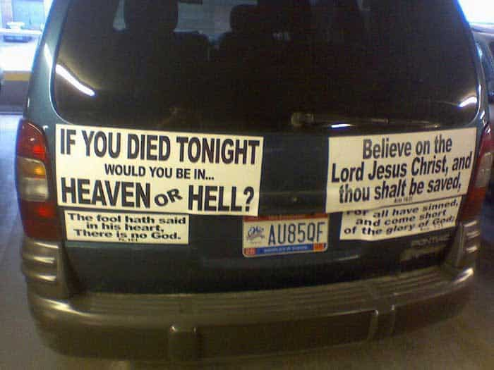 Christian bumper stickers