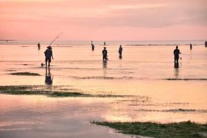 Tropical Fishermen at Sunset