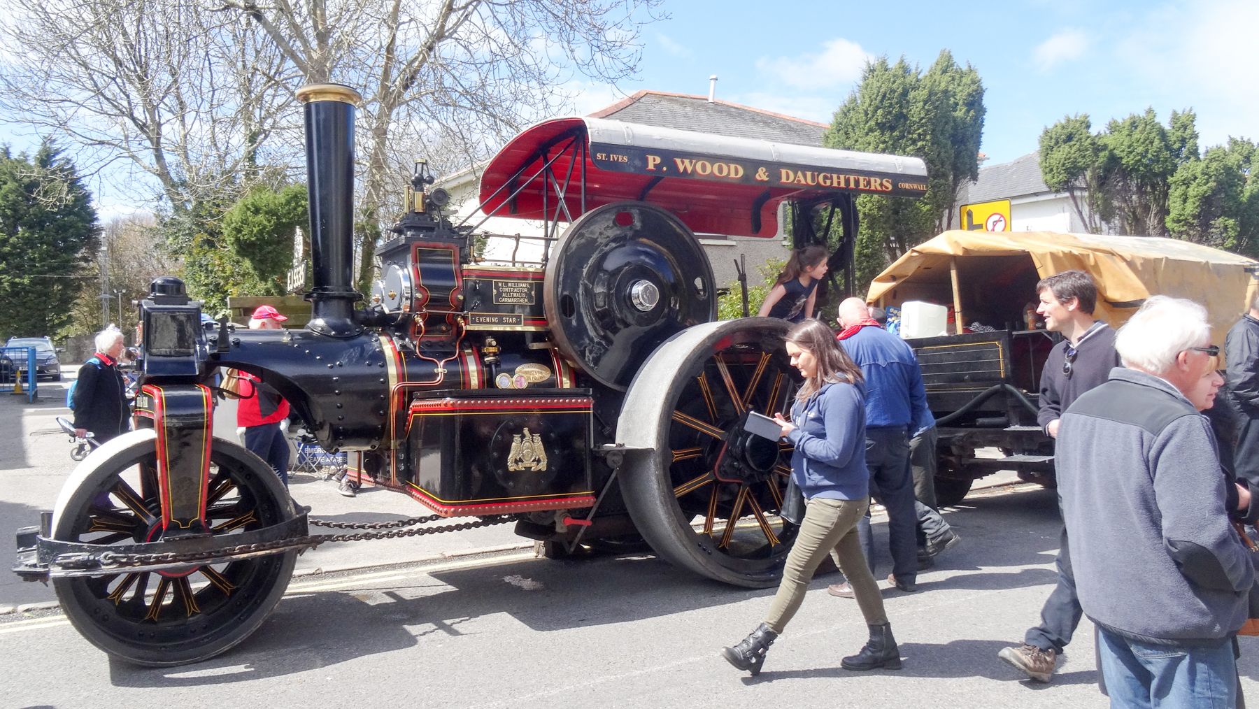 Steam engine at Trevithick Day