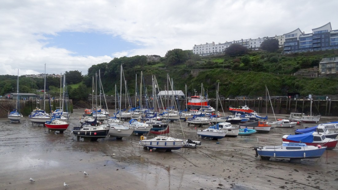 Ilfracombe harbour boats