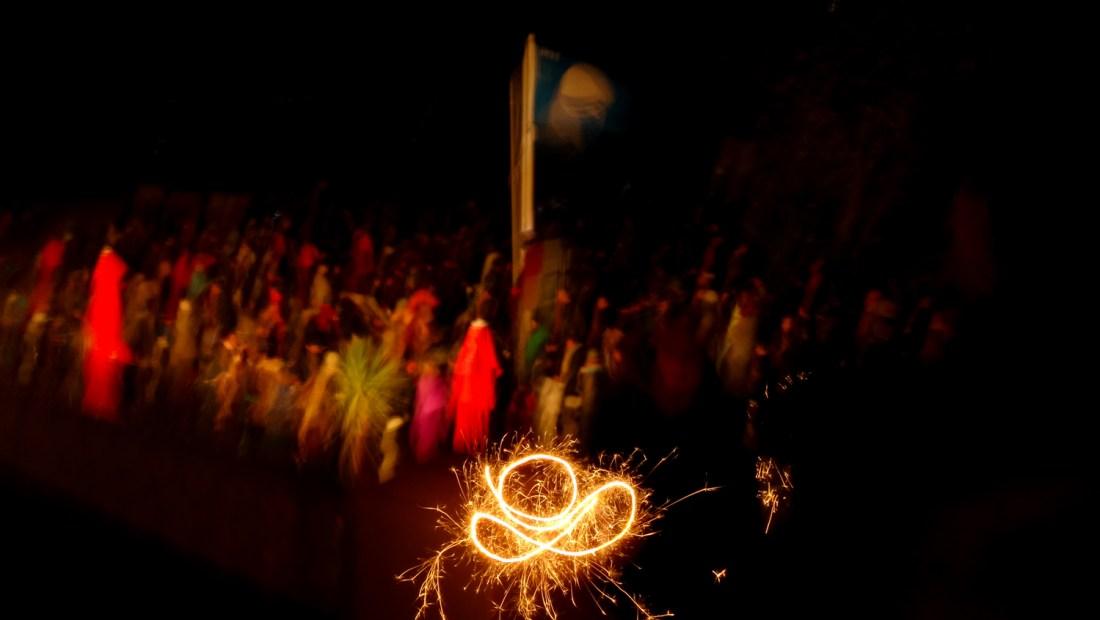 st ives porthminster beach fireworks 2016