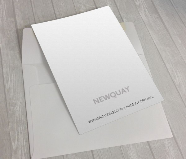 Newquay-Harbour-Back greeting card