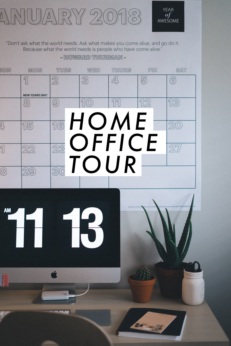 A little tour of my office - I'm obsessed! | Home workspace decor | saltyspaces.com