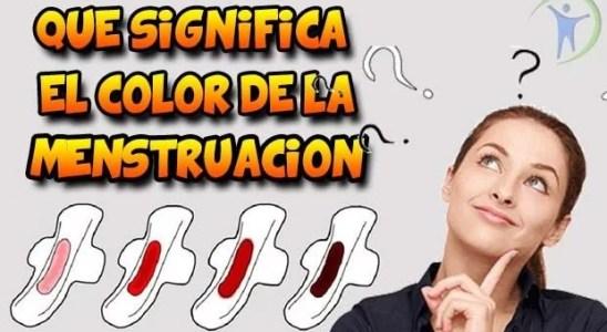 el color de la menstruacion indica alguna enfermedad