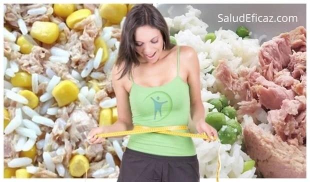 dieta del arroz y atun para adelgazar