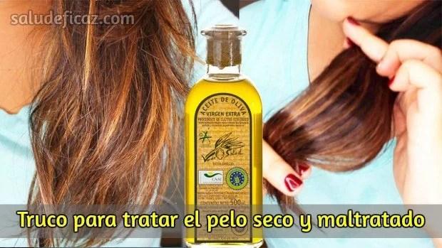 aceite de oliva para el cabello seco y maltratado
