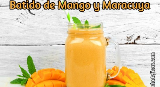 Batido Antiinflamatorio de Mango y Maracuyá