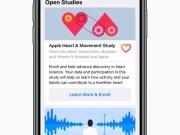 Apple lanzará una aplicación de investigación para tres estudios médicos que monitorean problemas de salud
