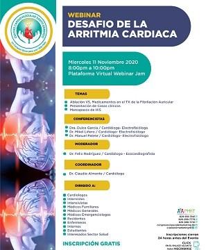Centro Cardiovascular invita a evento Desafío Arritmia Cardíaca CVSD 2020