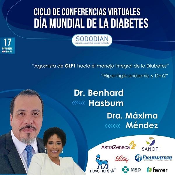 SODODIAN invita a continuación ciclo conferencias virtuales Día Mundial de la Diabetes