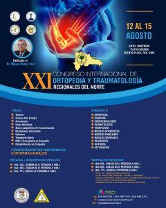 Sociedad de Ortopedia y Traumatología da a conocer detalles XXI Congreso Internacional Regionales del Norte 2021 @ Hotel Emotions, Playa Dorada