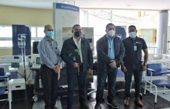 El Ney Arias Lora muestra sus nuevos equipos médicos