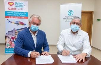 Plaza de la Salud firma acuerdo con Nicklau's Childrens Hospital beneficiará a pacientes pediátricos