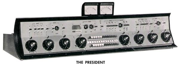 WSIU radio master control console. Circa 1971.