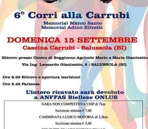 6a Corri alla Carrubi, memorial Marco Santo ed Adino Zilvetti