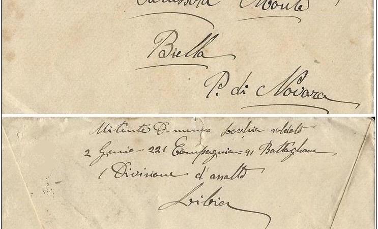 FotoNotizia / Una lettera di cent'anni fa dalla Campagna di Libia del 1919