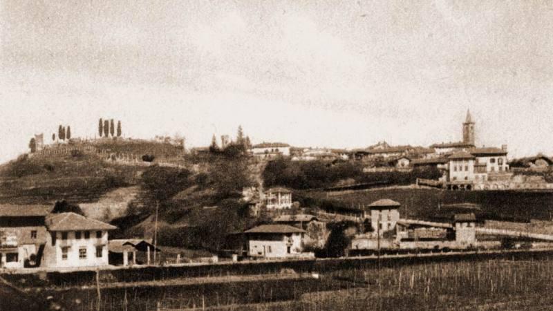 Vecchia Salussola: Veduta del borgo alto da cascina san Pietro intorno agli anni del 1930
