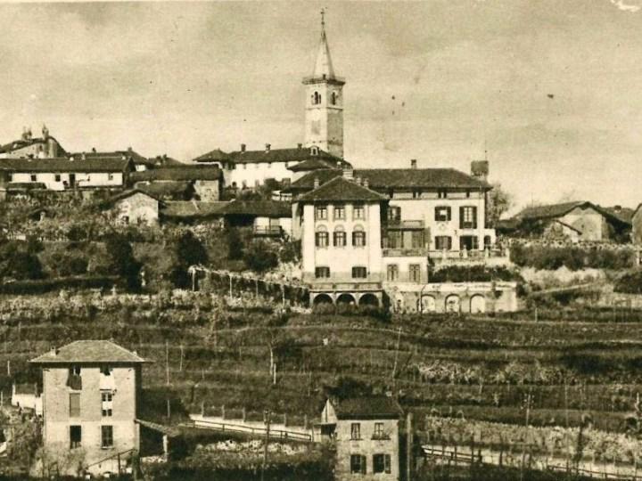 Vecchia Salussola: Veduta del borgo alto con terrazzamenti a vigna