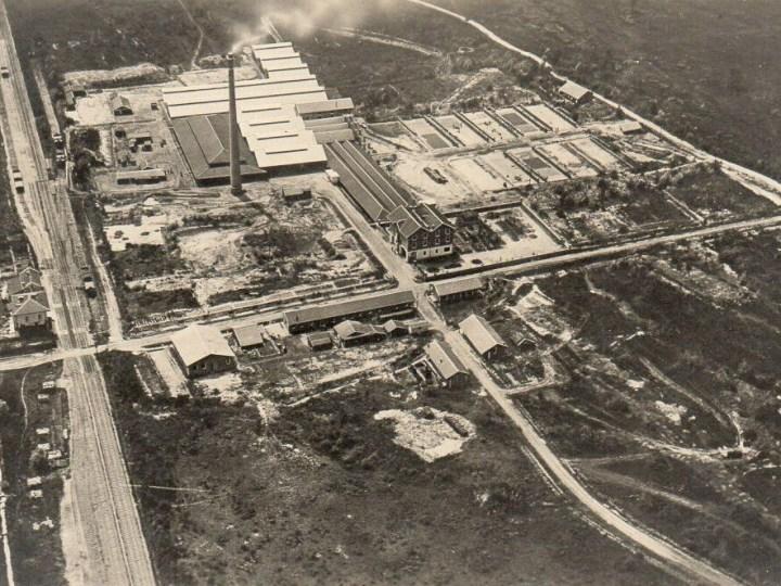 Vecchia Salussola: La fornace del Brianco vista dall'alto negli anni del 1930