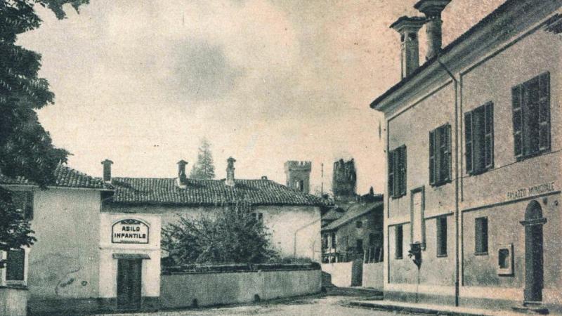 Vecchia Salussola: Asilo Infantile e Palazzo Municipale anni del 1930