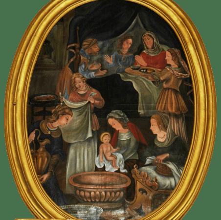 Vecchia Salussola: Dipinto della Natività di Maria che si trova nella chiesa di Arro