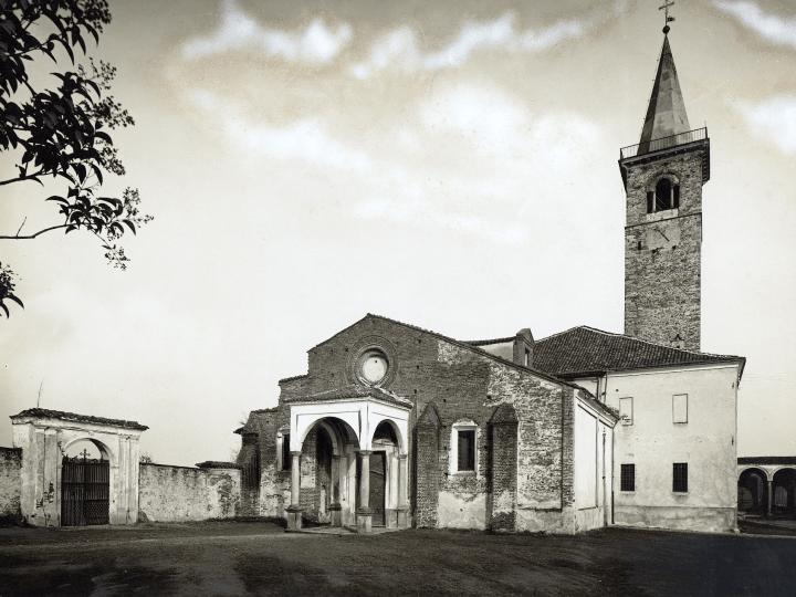 Vecchia Salussola: Chiesa di santa Maria Assunta vista tra il 1932 ed il 1948