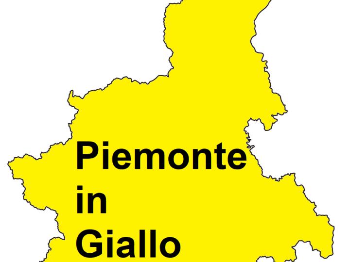 Covid-19: Piemonte in giallo anche la prossima settimana