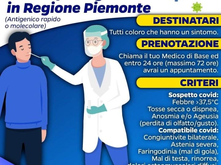 Come prenotare un tampone gratuito in Piemonte