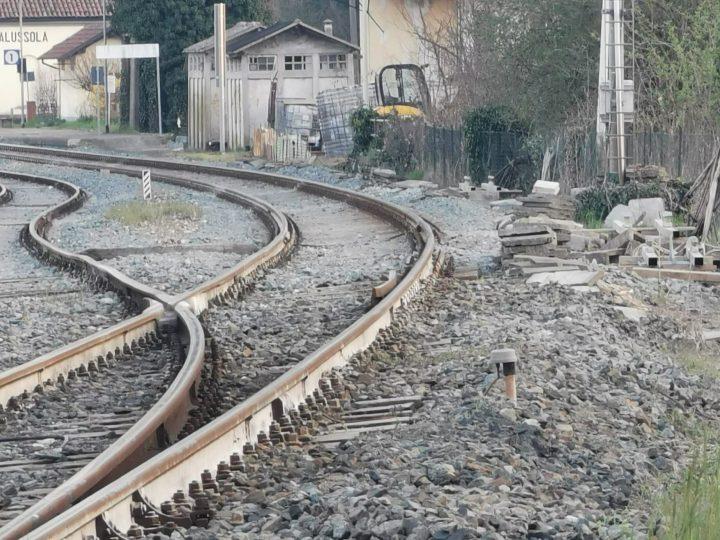 Ferrovia Biella – Santhià: Saranno sostituiti binari e deviatoi della stazione di Salussola
