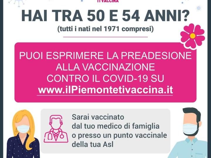 Se hai tra il 50 e i 54 anni puoi preaderire al vaccino