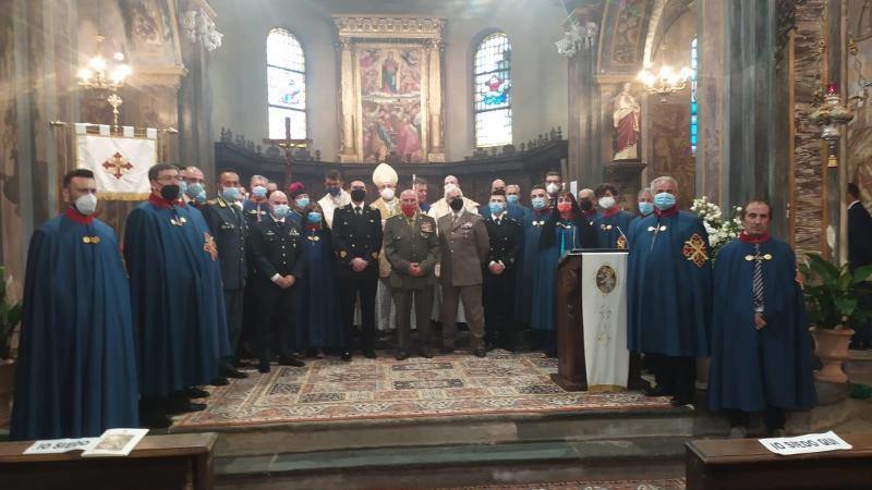Ieri l' ammissione all'Ordine Costantiniano di san Giorgio nella chiesa di santa Maria Assunta
