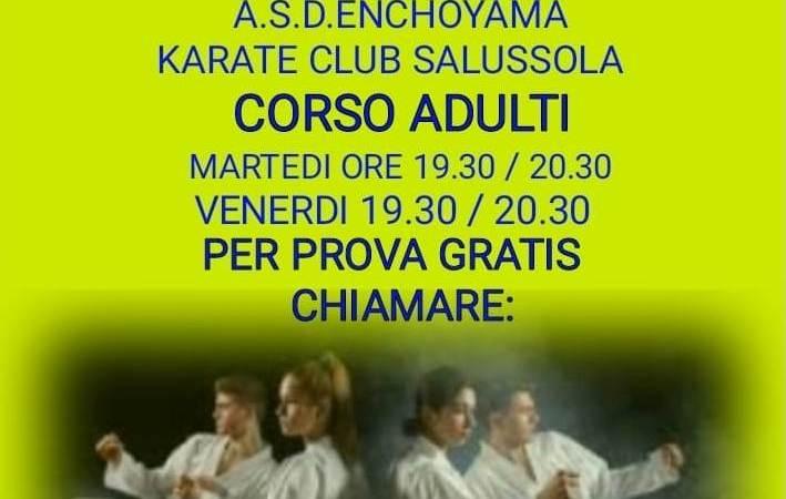Corso di karate per adulti a Salussola il martedì e il venerdì