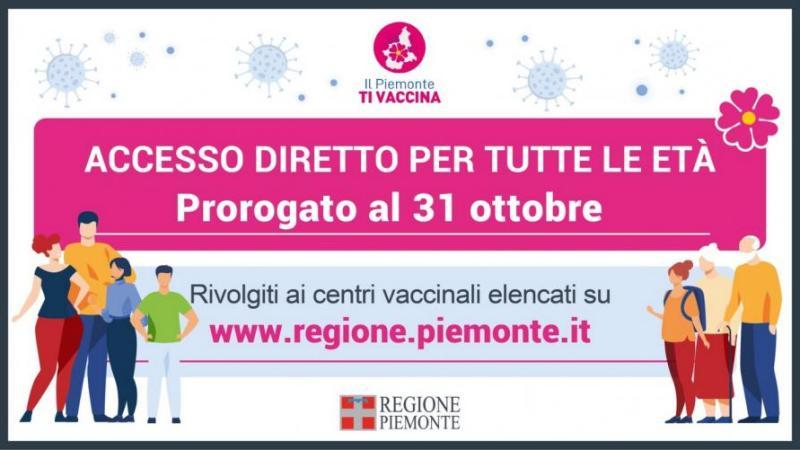 Accesso diretto al vaccino prorogato al 31 ottobre presso il centro della Biver Banca