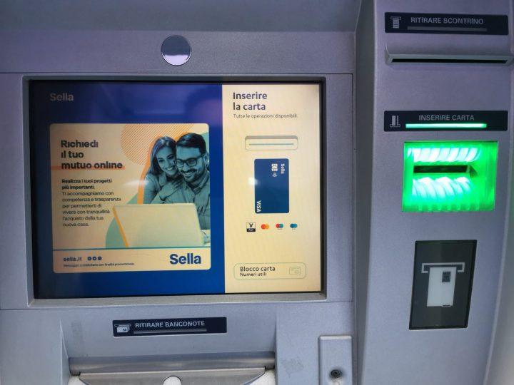 Il bancomat Sella di Salussola è ritornato attivo e funzionante