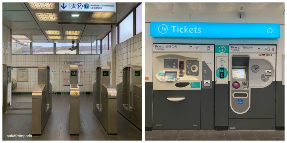 Metro Ticket Machine - how to use the Paris Metro
