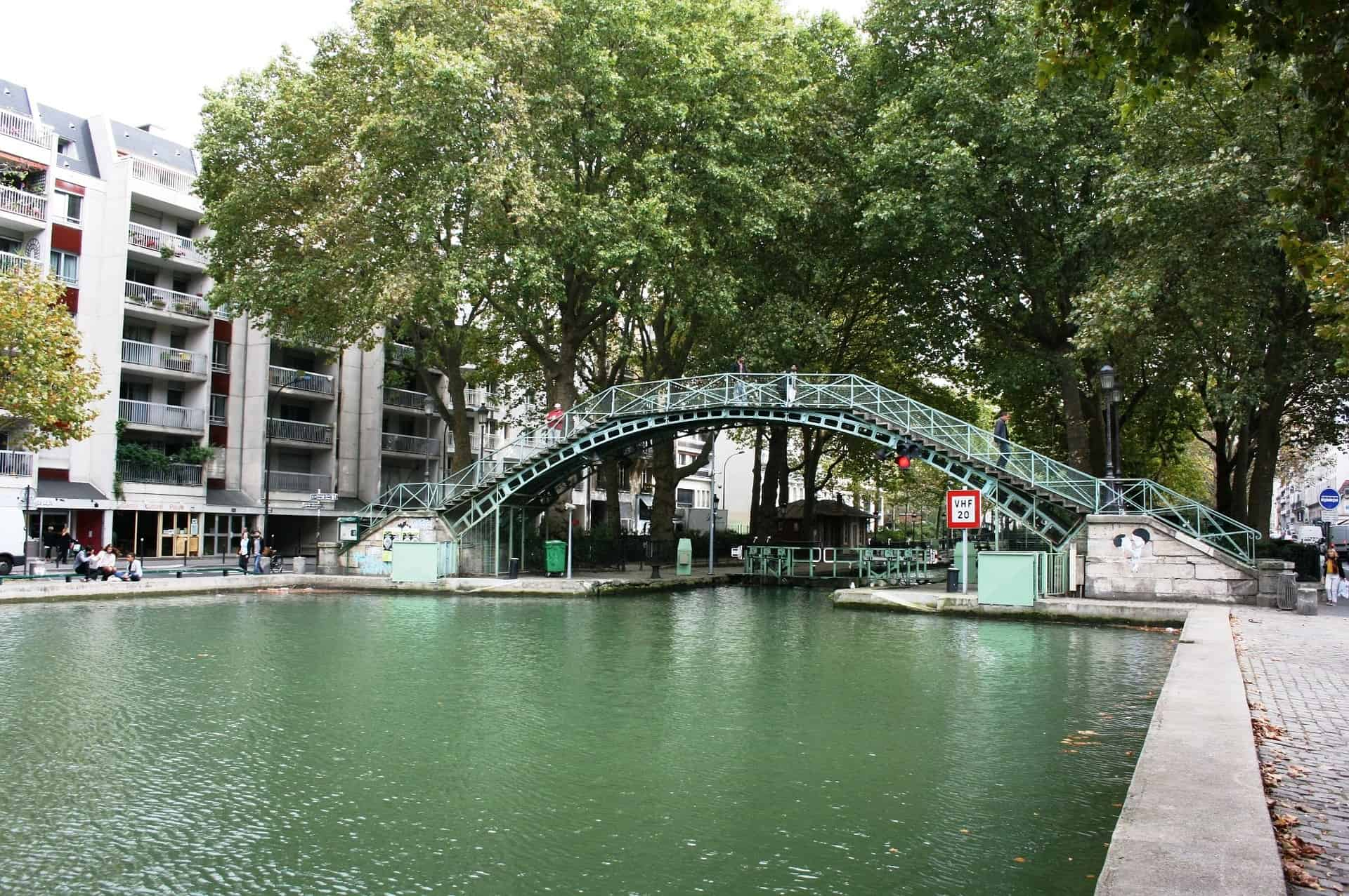 Paris hidden treasure: The Canal St. Martin in the North east of Paris belongs to the rather hidden things to do in Paris