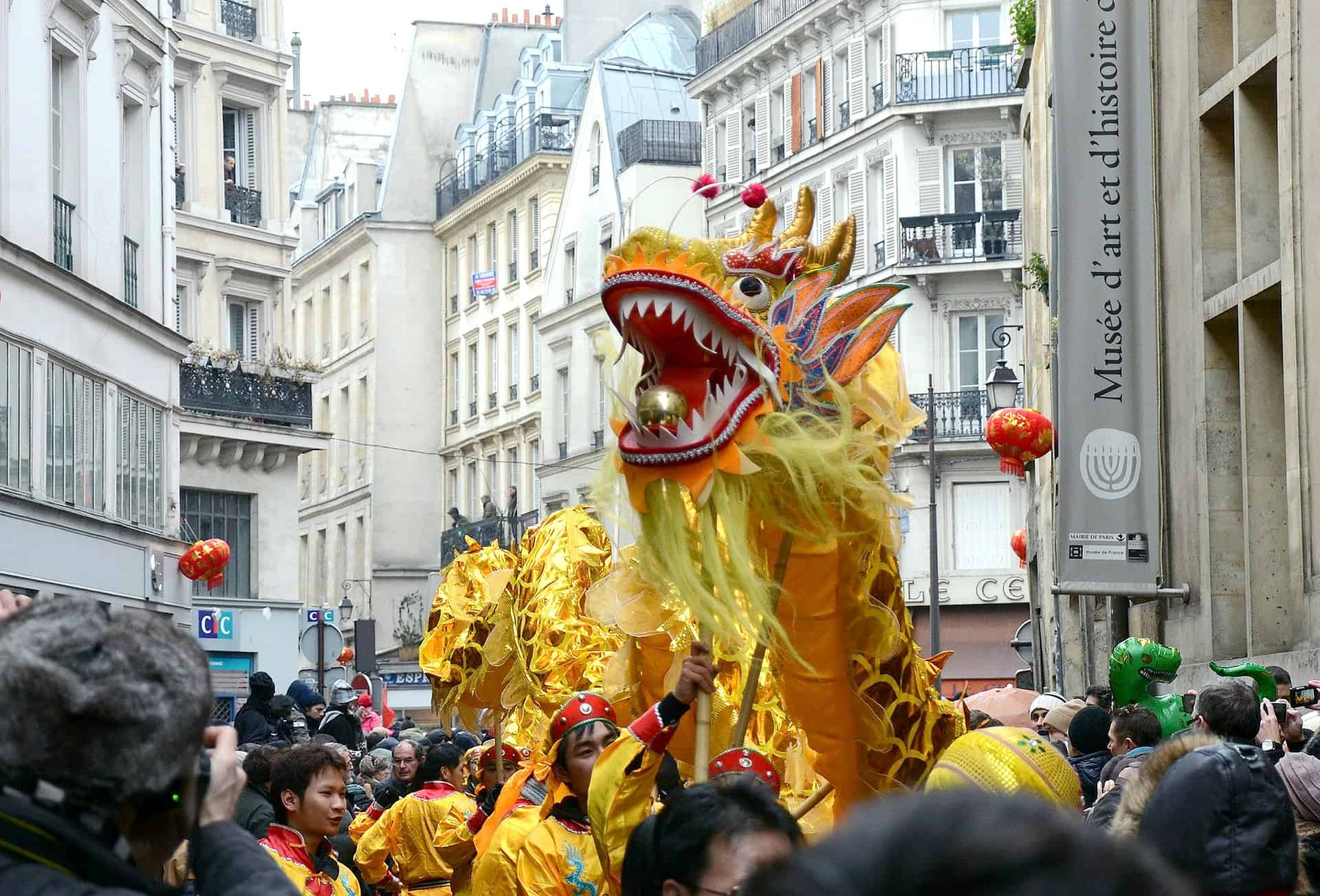 Unusual things to do in Paris - visit Chinatown and see the new years parades! great idea if you're up for some offbeat things to do in Paris. If you are searching for hidden gems in Paris, you shouldn't miss this Parade -hidden gems paris