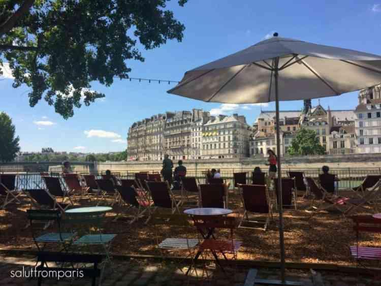 Paris Plage in Summer