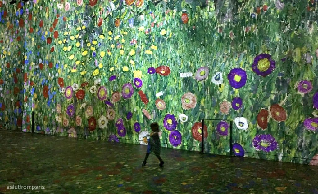 spend a wonderful time at the Atelier des Lumières - the immersive show is magical