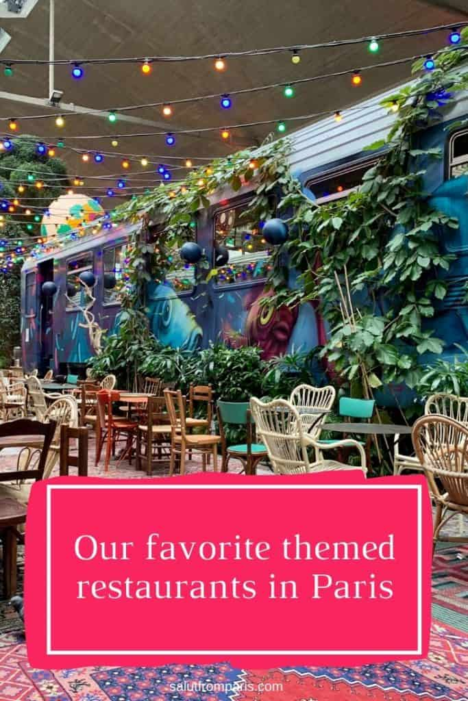 Fun Restaurants in Paris Pin