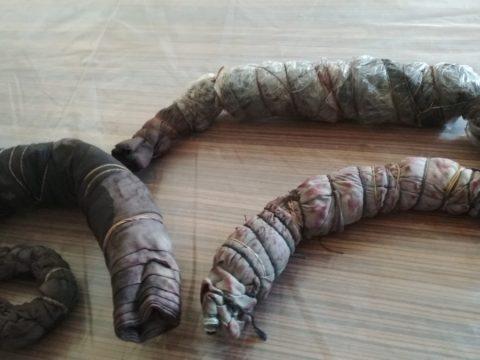 Churros de ecoprint recién sacados de la cazuela