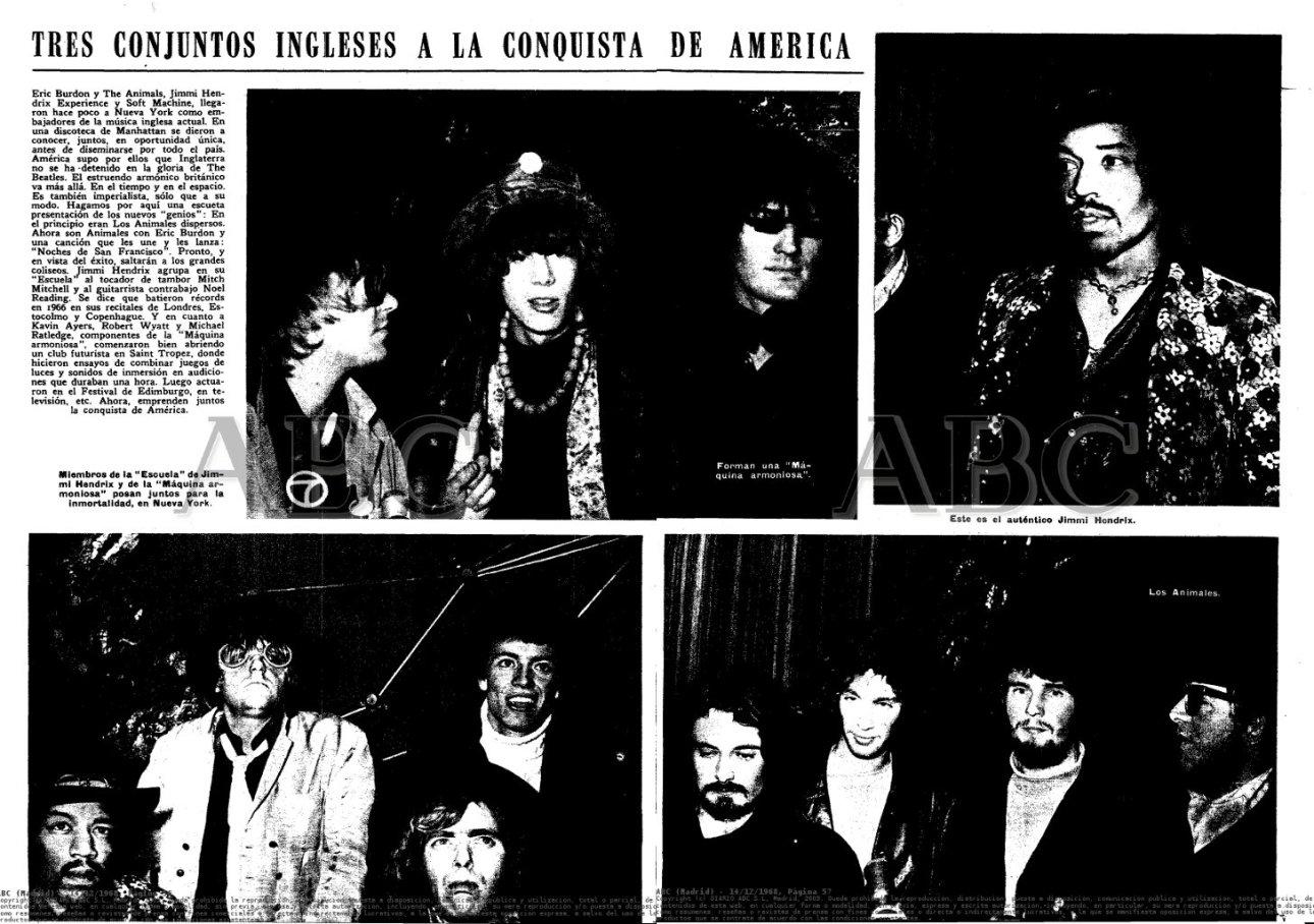 Jimi Hendrix Experience e Soft Machine in Usa from ABC