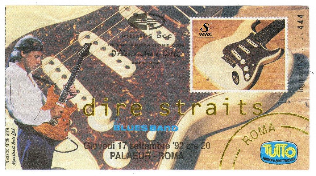 Biglietto Dire Straits Live Roma 1992
