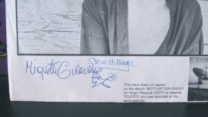 Signature, signed Lp, autograph
