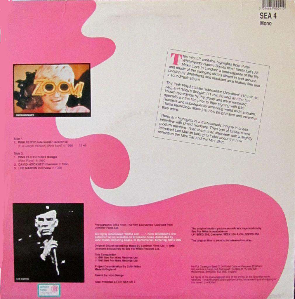 Swingin London Psichedelia pink floyd Tonite let's all make love in London... plus
